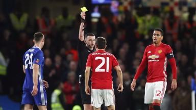 Ander Herrera was sent off against Chelsea