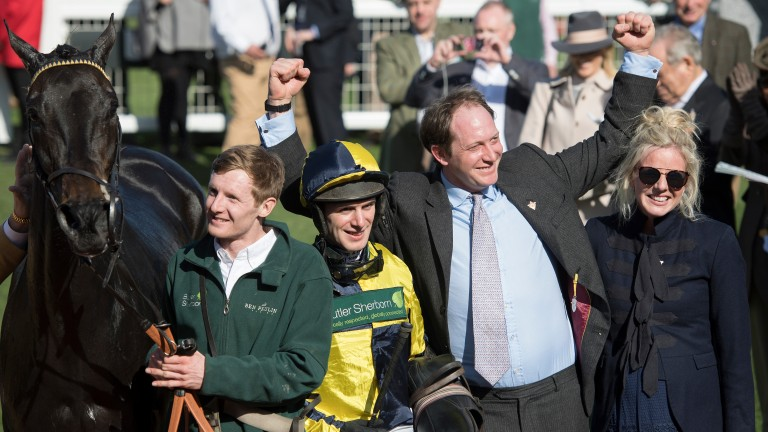 Ben Pauling celebrates Willoughby Court's triumph at the Cheltenham Festival