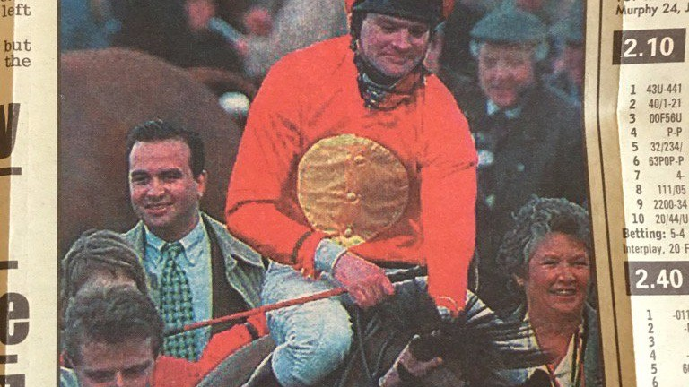 Barry Orr (left): behind Champion Hurdle winner Flakey Dove
