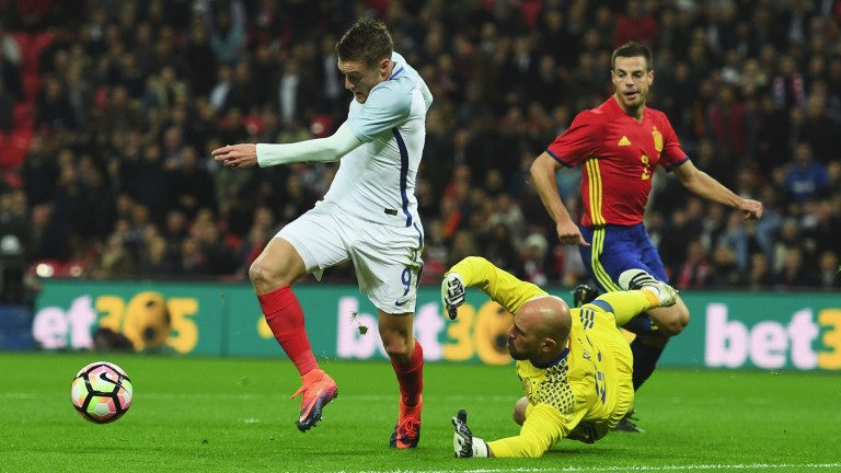 Jamie Vardy could cause plenty of problems for the Germany defence