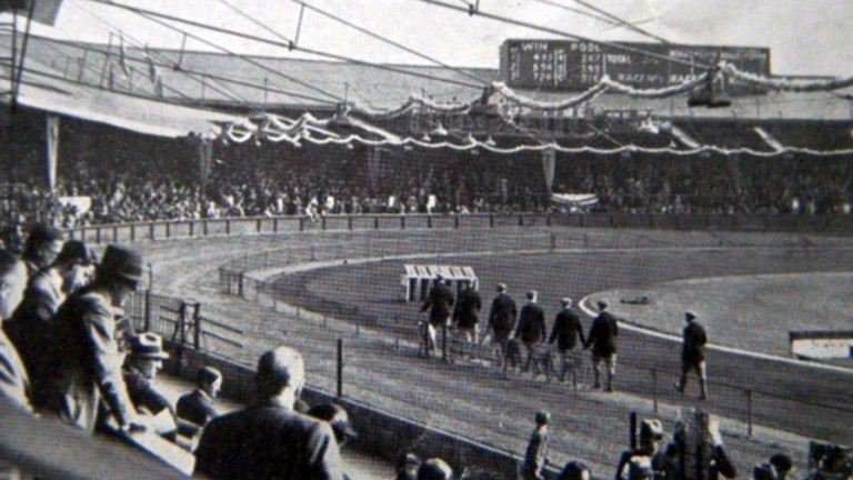 Racing at Wimbledon during the early days when the sport flourished