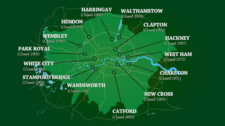 The major tracks in London already gone