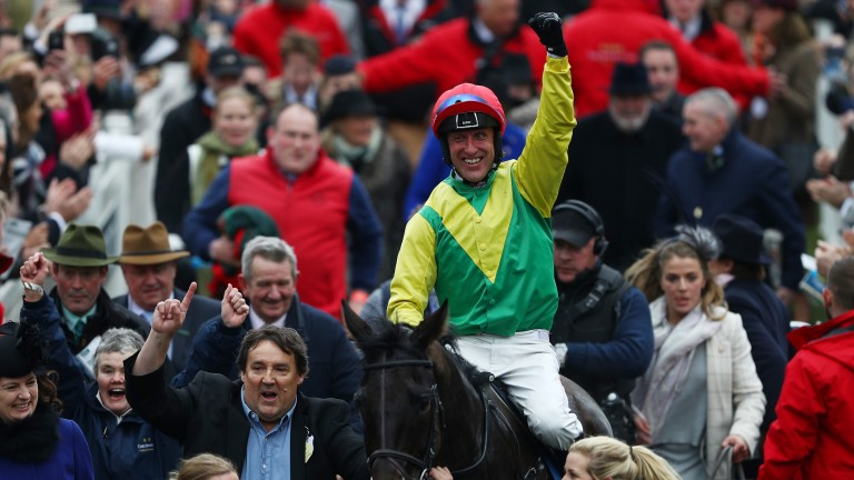 Richard Melia, left, celebrates Sizing John's Gold Cup victory
