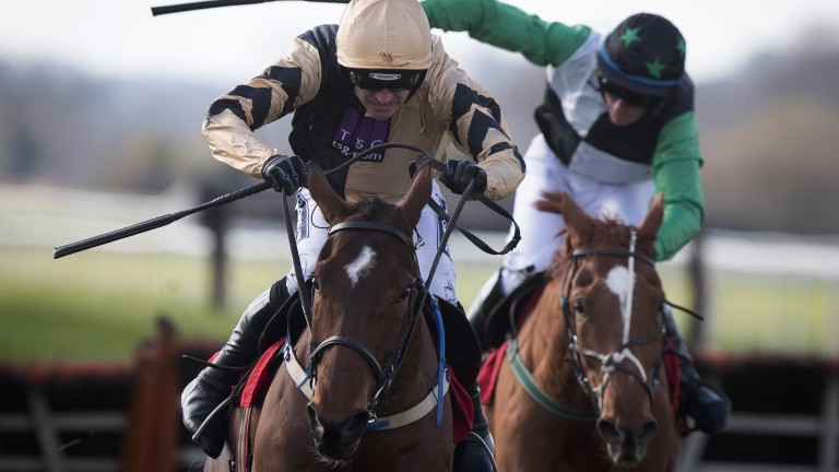 Toughing it out: Bonbon Au Miel and Ruby Walsh edge out Lilshane in the 2m hurdle