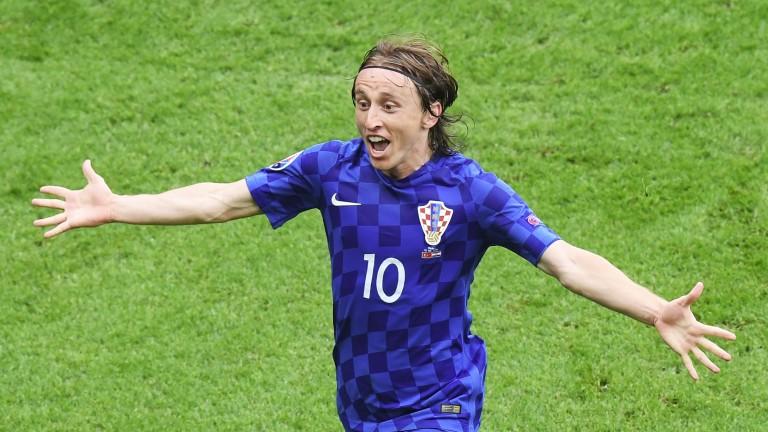 Croatia's Luka Modric celebrates scoring a goal
