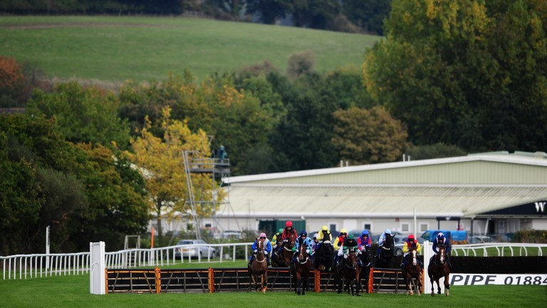 Newton Abbot: action at the track starts at 1.30