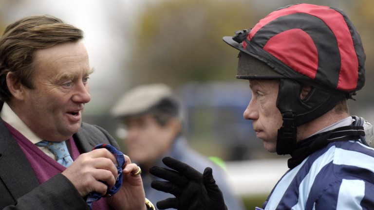 Enduring partnership: Nicky Henderson and Mick Fitzgerald worked together for 16 seasons