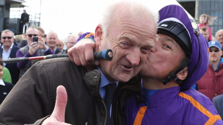 The scenes at the Curragh in 2016 when Wicklow Brave and Frankie Dettori provided Willie Mullins with his breakthrough Classic success