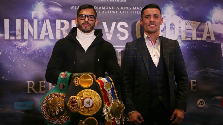 WBA lightweight champion Jorge Linares and challenger Anthony Crolla