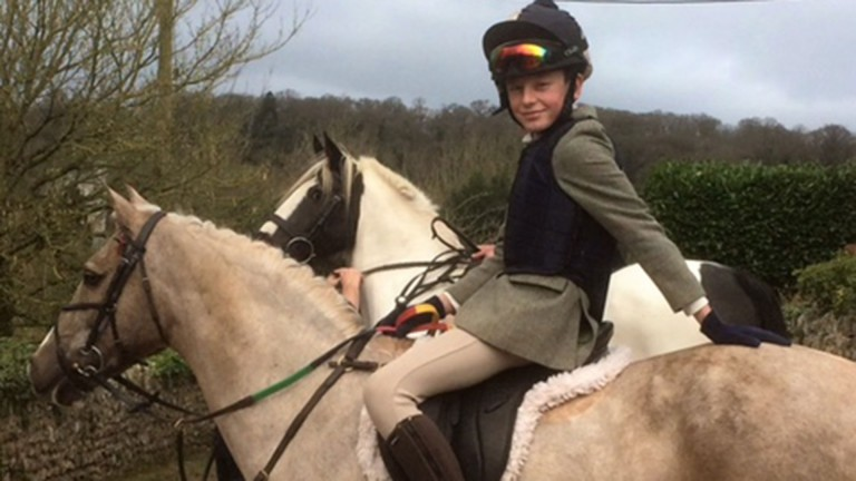 James Clarkson: 11-year-old fundraising for the Injured Jockeys Fund