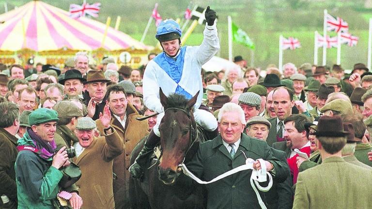 Danoli returns in triumph after landing the 1994 Sun Alliance Novices' Hurdle at Cheltenham