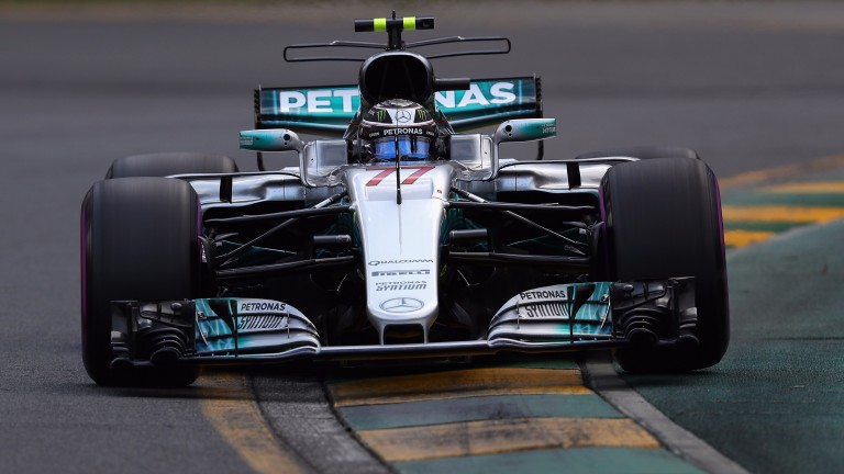 Valtteri Bottas is racing for Mercedes for the first time after leaving Williams
