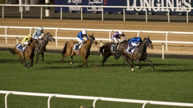 Jack Hobbs begins to pull clear in the Dubai Sheema Classic
