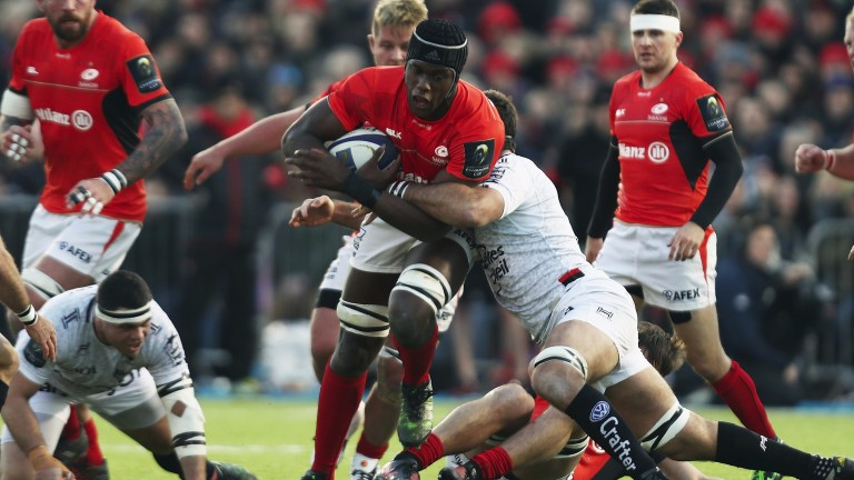 Maro Itoje is back in the Saracens pack after international duty