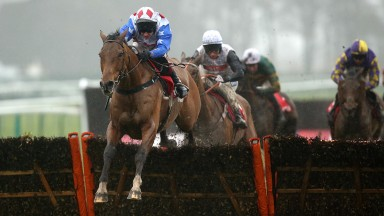 Reve De Sivola and Richard Johnson winning the Rendlesham Hurdle at Haydock last year