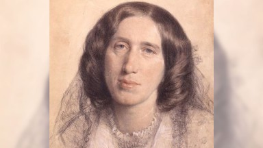 Mary Anne Evans, known by her pen name George Eliot, was an English novelist, poet, journalist, translator and one of the leading writers of the Victorian era by Sir Frederic William Burton,drawing,1865