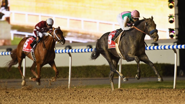 Better than the rest: Arrogate storms clear of Florent Geroux aboard Gun Runner