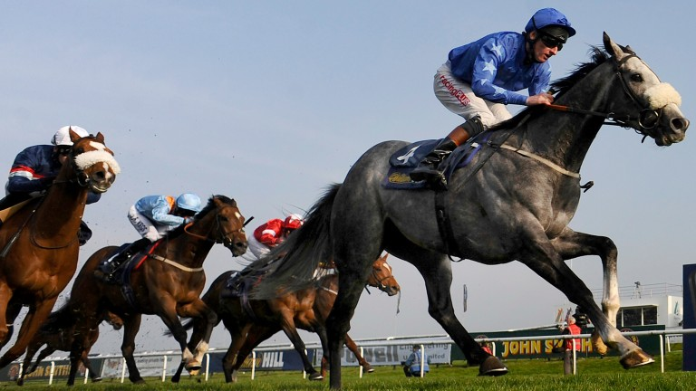 Ocean Tempest (Adam Kirby) winning the 2014 Lincoln at Doncaster
