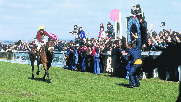 Jubilant scenes surrounding Red Rum's third National win belied the strife Aintree was suffering