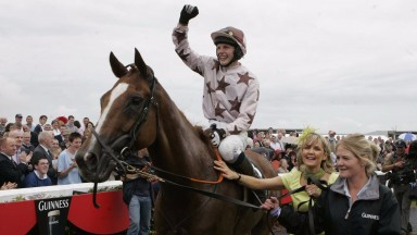Paul Townend records a breakthrough success aboard Indian Pace in the 2008 Galway Hurdle