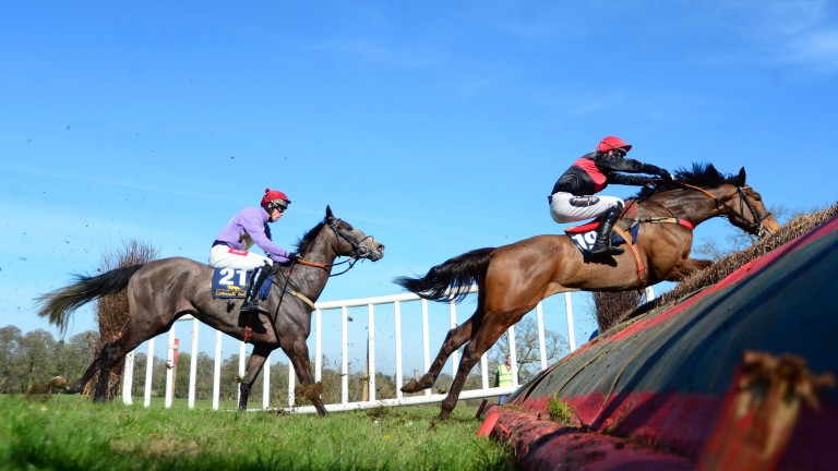 Knight In Dubai on his way to victory in the Durrow point-to-point on Saturday
