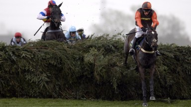Sam Waley-Cohen: winning the second of his three Aintree Fox Hunters' on Katarino in 2006