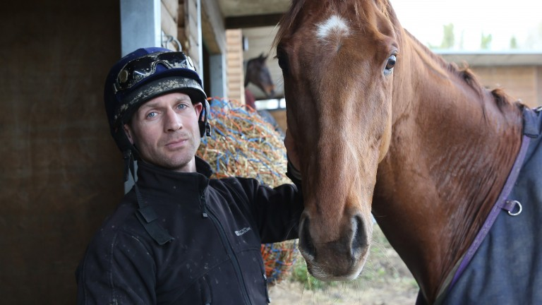 Danny Cook with Definitly Red: 'He knows the horse. I'll just be telling him to stay calm,' says trainer Brian Ellison