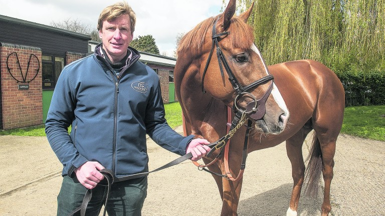 Ed Walker and Stormy Antarctic, who was second at Saint-Cloud in a Group 1 as a two-year-old