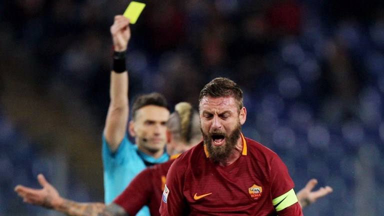 Roma's Daniele De Rossi may be in a calmer mood against Empoli