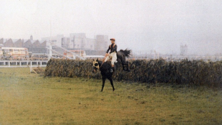 Foinavon and John Buckingham in glorious isolation at Aintree