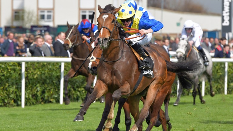 Ryan Moore scores on Ballet Concerto in the Spring Mile at Doncaster on Saturday