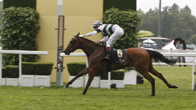 Immortal Verse winning the Coronation Stakes at Royal Ascot in 2011