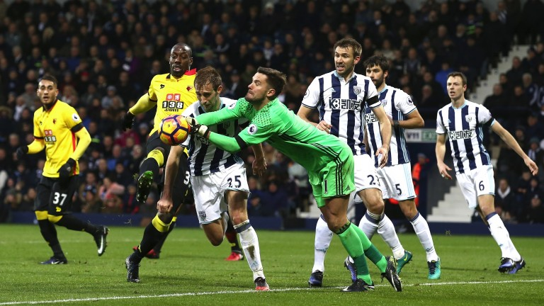 West Brom's defence denies Stefano Okaka earlier this season