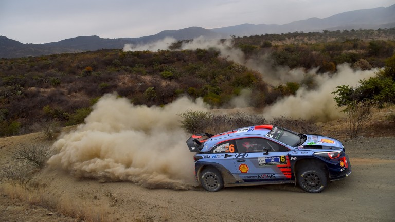 Dani Sordo in action during last month's Rally Mexico