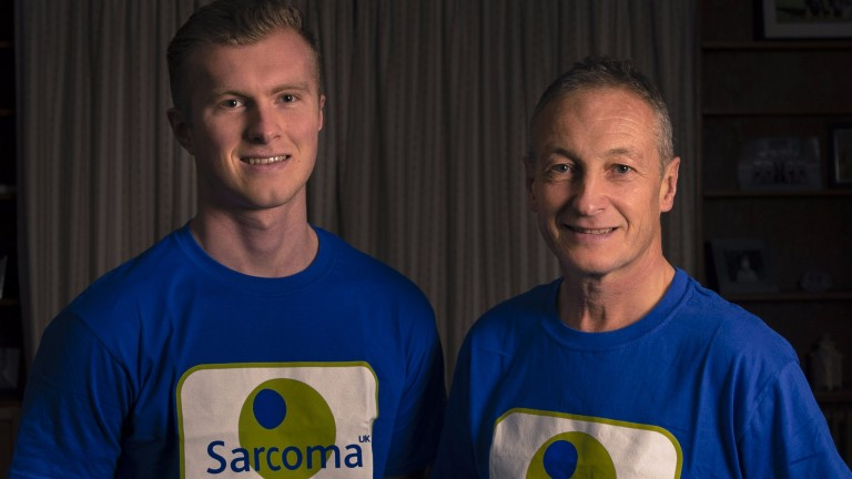 Richard Dunwoody (right), who is trekking Japan for charity, with nephew George Pearce
