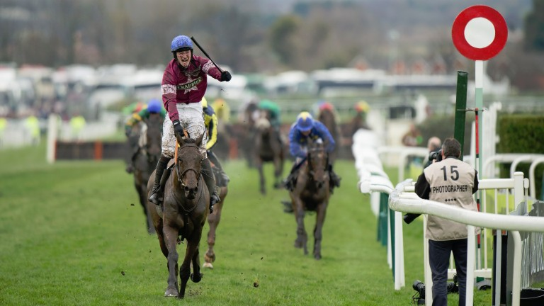 Rule The World (David Mullins) wins the Grand NationalAintree 9.4.16 Pic: Edward Whitaker