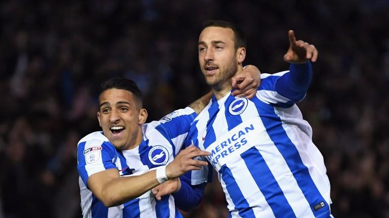 Brighton's Glenn Murray (right) and Anthony Knockaert