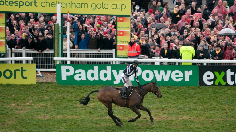 Paddy Brennan celebrates after winning the 2010 Cheltenham Gold Cup on Imperial Commander - but who finished second?
