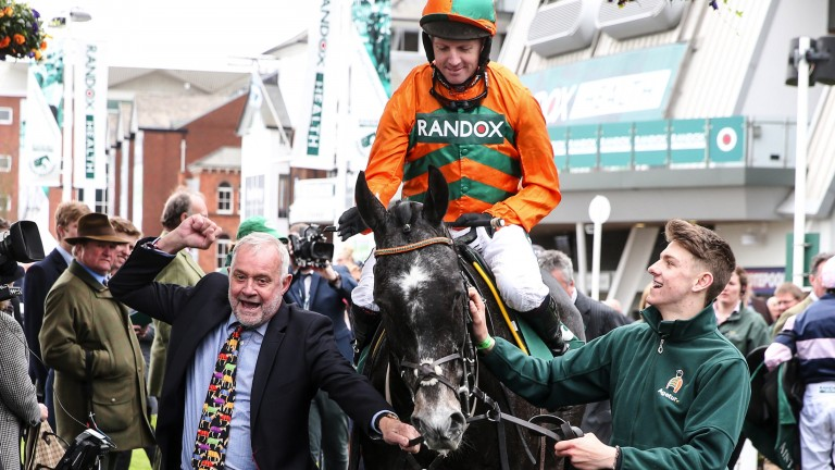 Flying Angel: has tasted victory before at Aintree in the Manifesto Novices' Chase in 2017