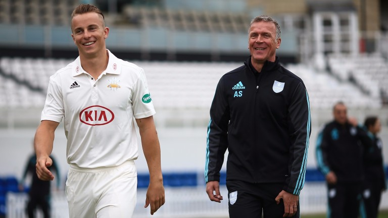 Tom Curran (left) has impressed Surrey's director of cricket Alec Stewart
