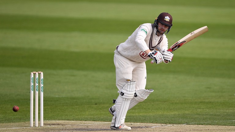 New Surrey opener Mark Stoneman clips off legs in a friendly at Hove