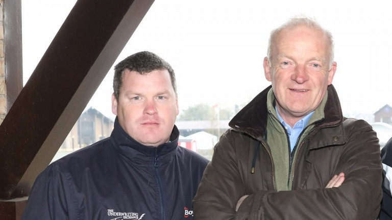 Gordon Elliott and Willie Mullins at the launch of the Punchestown festival, which could be vital in deciding who lifts the champion trainer's trophy