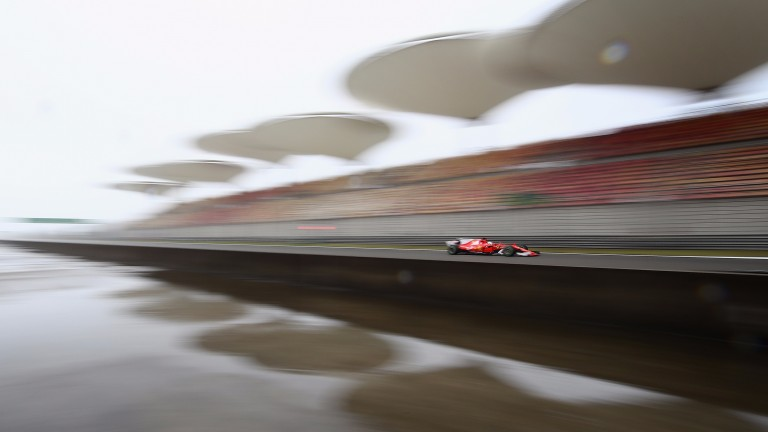 Rain is forecast for race day in Shanghai