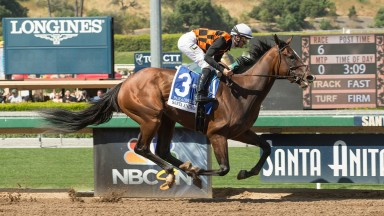 A breakout performance from Paradise Woods (Flavien Prat) on her stakes debut in the Santa Anita Oaks