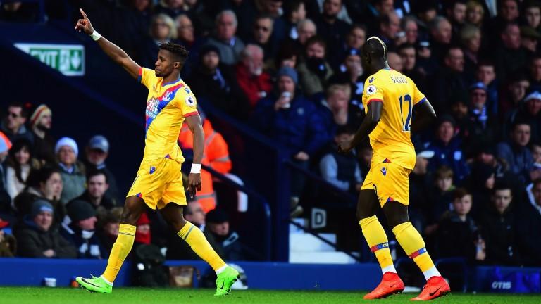 Wilfried Zaha of Crystal Palace celebrates