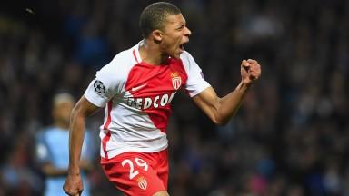 Monaco's Kylian Mbappe has opened the scoring five times