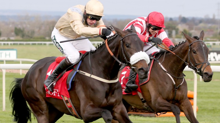 Alain Cawley: pictured winning at Aintree aboard Dame Rose, dreamed up the idea with Chris Coley