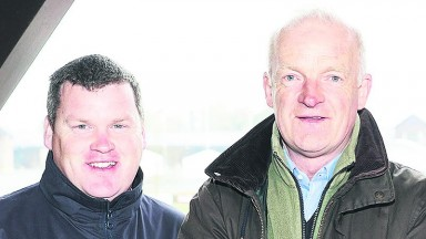 PUNCHESTOWN MON 11 APRIL 2016  PICTURE: CAROLINE NORRIS  GORDON ELLIOTT, WILLIE MULLINS AND JOSEPH O'BRIEN AT THE LAUNCH OF THE PUNCHESTOWN FESTIVAL WHICH TAKES PLACE IN TWO WEEKS TIME.