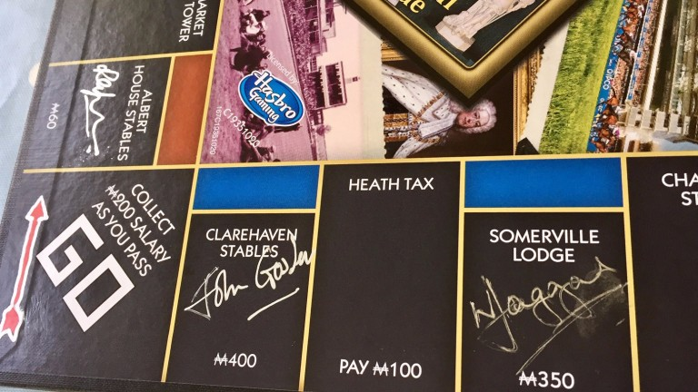 Trainers have signed a Newmarket version of Monopoly to raise money for the Injured Jockeys Fund, with Allan Mackay at the forefront of their minds