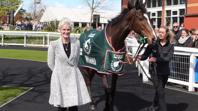 Judy Murray, mother of world No 1 tennis player Andy Murray with Grand National Winner One For Arthur